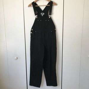 Vintage Xhiliration Black Full Length Overalls S
